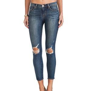 J Brand Capri Misfit Ankle Cropped Destroyed Jeans